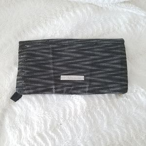 BCBGeneration Clutch Purse Black Gry Silver Sequin